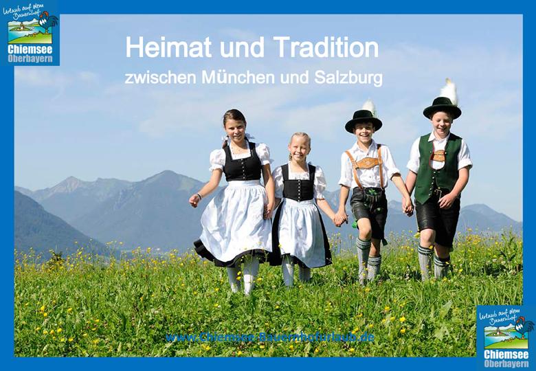 Urlaub auf dem Bauernhof Chiemsee Oberbayern Heimat und Tradition