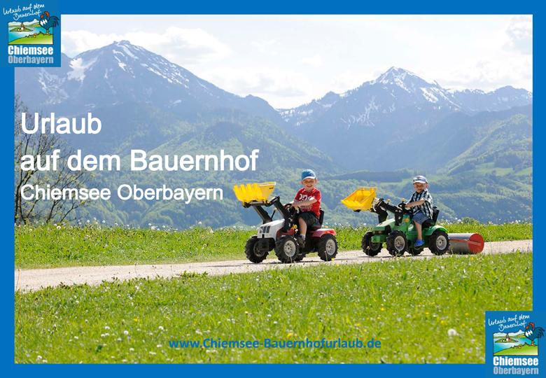 Urlaub auf dem Bauernhof Chiemsee Oberbayern Kinderfuhrpark