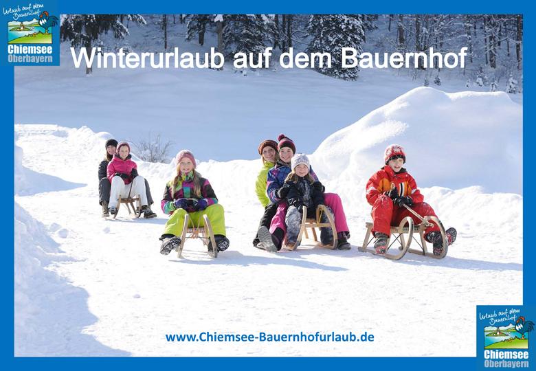 Urlaub auf dem Bauernhof Chiemsee Oberbayern Winterurlaub