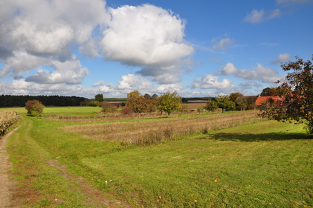 Herbstlandschaft rund um den Hof