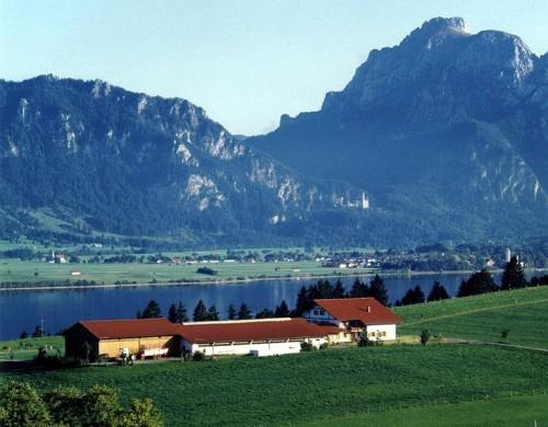 Salenberghof mit Blick auf den Forggensee