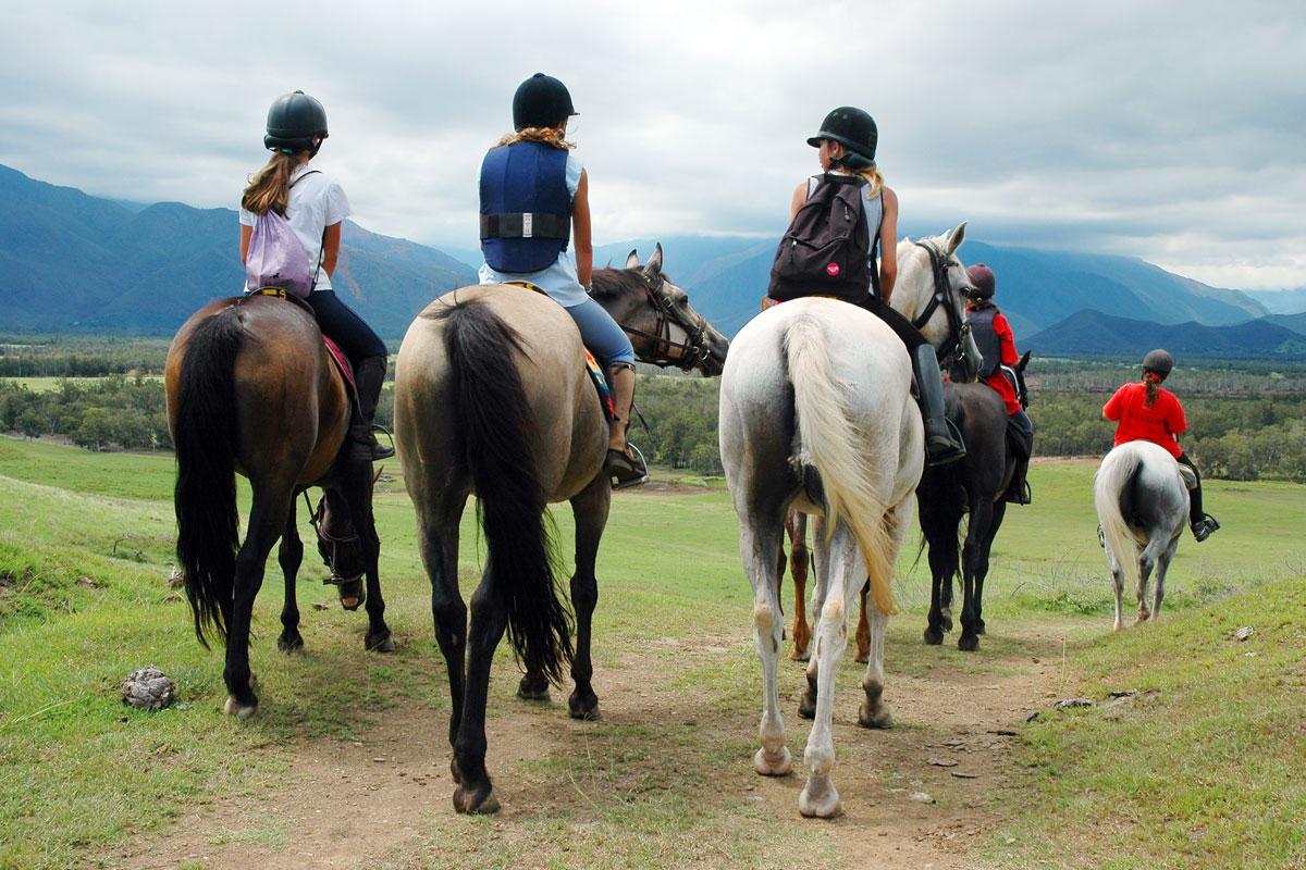 Wunderschöner Ausritt zu Pferd - Ein Kindertraum: Herbstferien auf dem Reiterhof