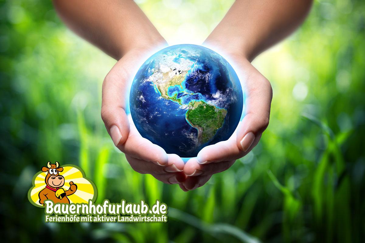Umwelt- und Klimaschutz auf Bauernhofurlaub..de