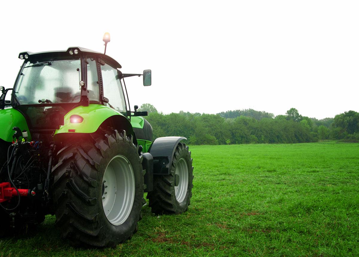 Traktor im Einsatz