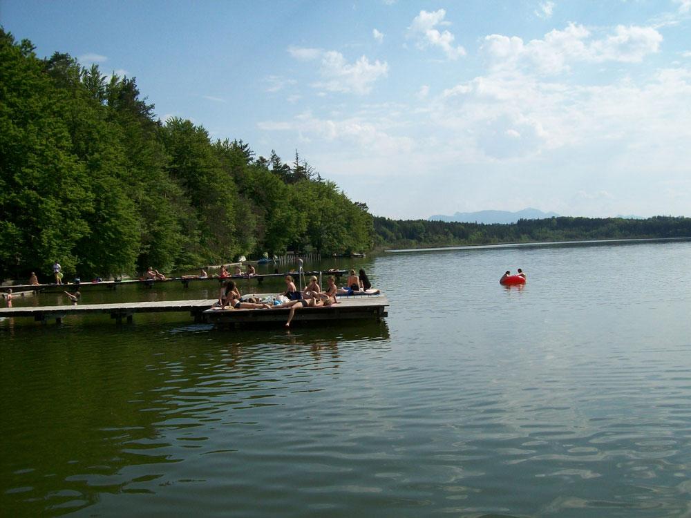 Badesteg am Hartsee