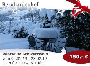 Bernhardenhof- Winter im Schwarzwald