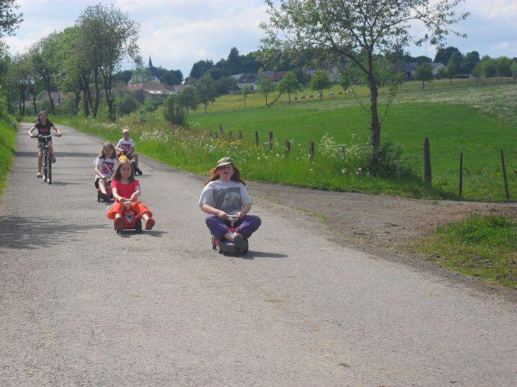 Bobycarrennen auf dem Friedahof