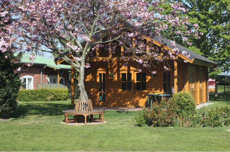 Das Blockhaus auf dem Ferienhof Rickert