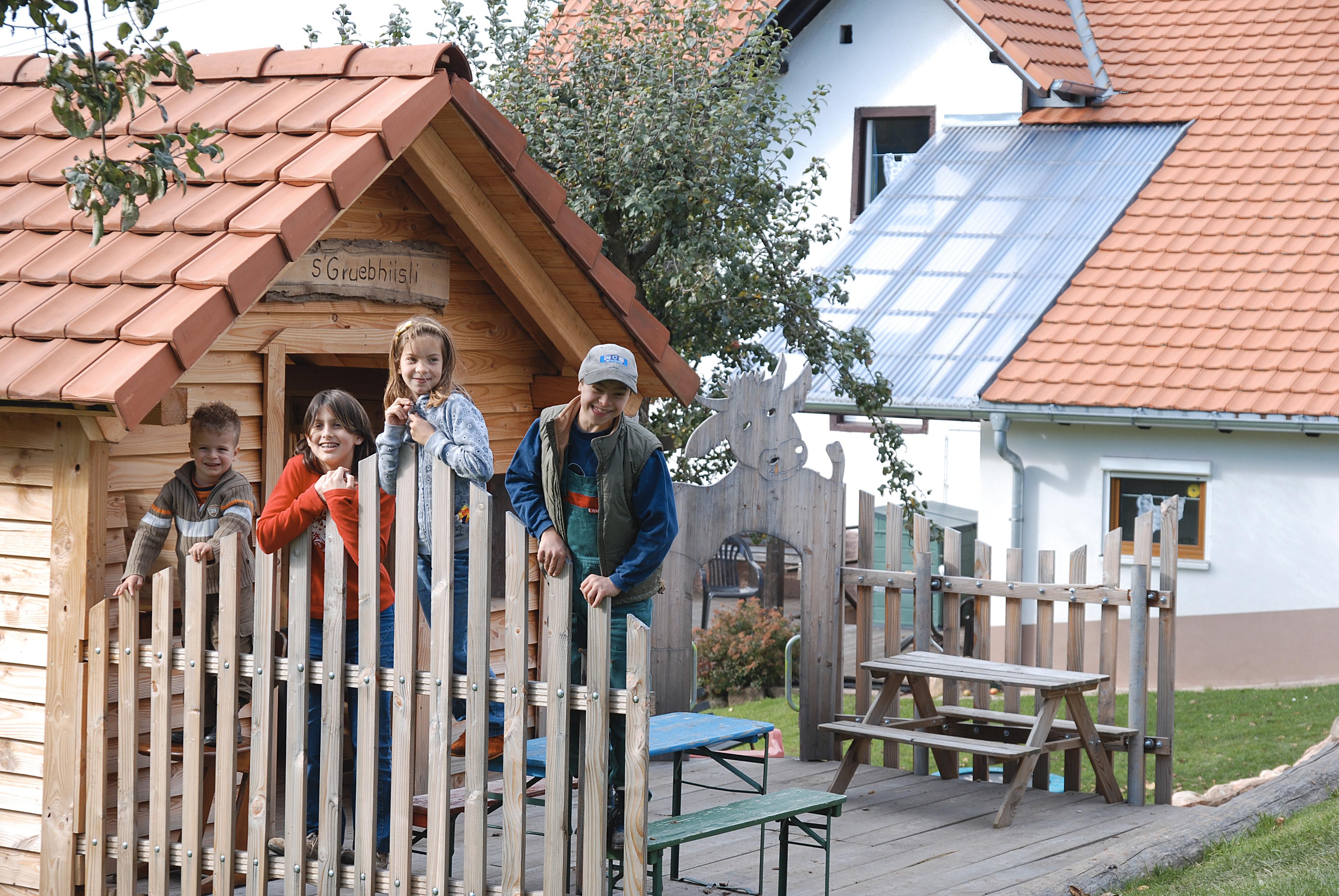 Das Spielhaus auf dem Grub-Daniel-Hof