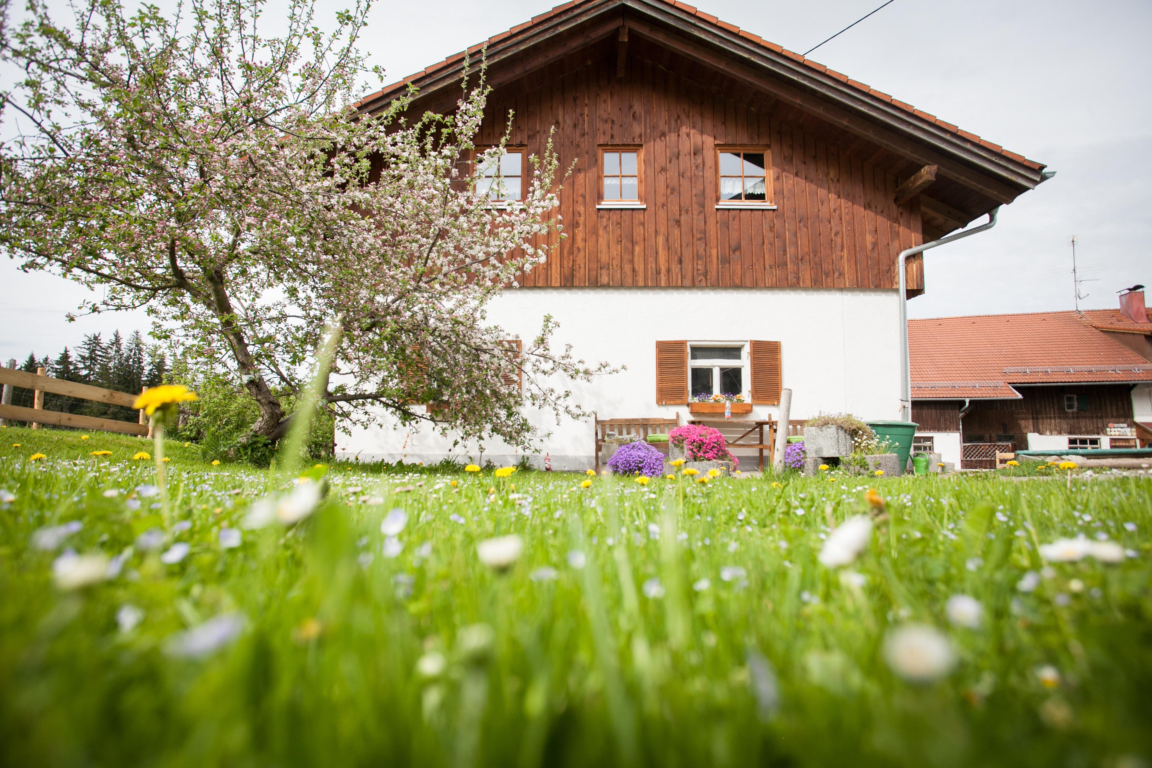 Der Garten vom Bauernhof Ferienwohnungen Schmölz
