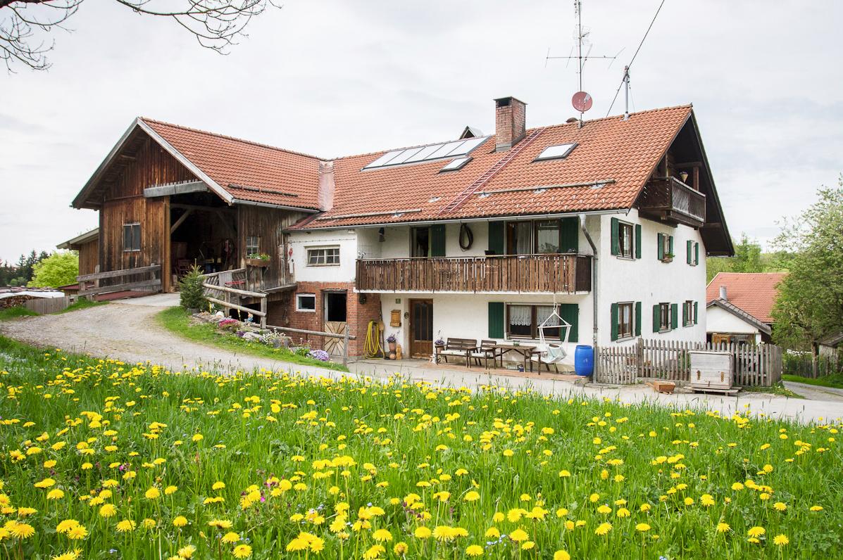Der Hof vom Bauernhof Ferienwohnungen Schmölz