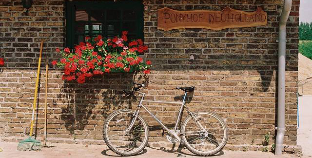 Fahrrad am Stall