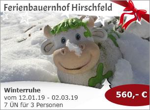 Ferienbauernhof Hirschfeld - Winterruhe