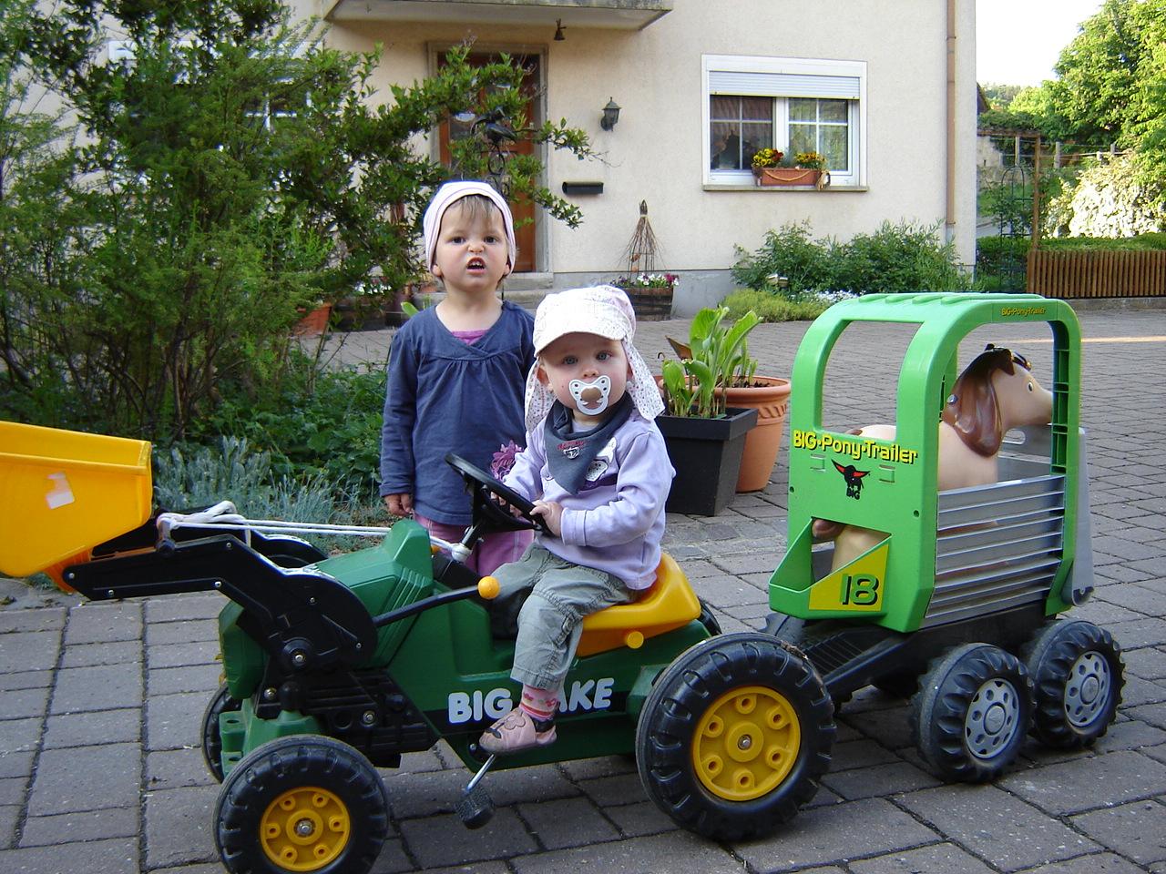 Fuhrpark für die Kinder