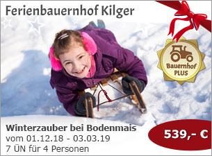 Ferienbauernhof Kilger - Winterzauber im Bayerischen Wald bei Bodenmais