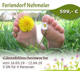 Gänseblümchenwoche - Feriendorf Nehmeier