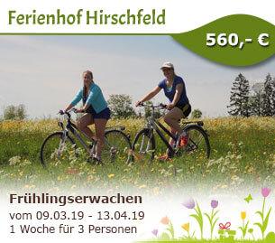 Frühlingserwachen am Ferienbauernhof Hirschfeld