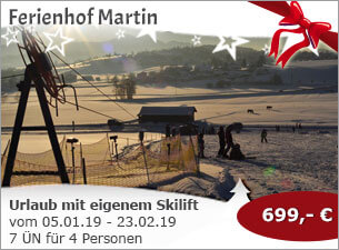 Ferienhof Martin - Winterurlaub mit eigenem Skilift