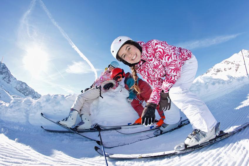 Spaß beim Wintersport