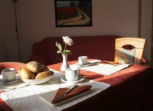 Frühstück in der Ferienwohung Buschblick
