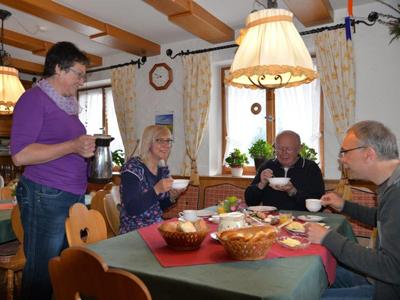 Frühstückszeit bei Friedel Ammann