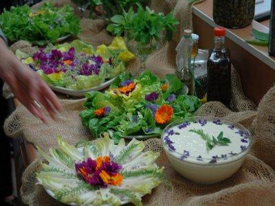 Produkte aus Kräutern und Blumen