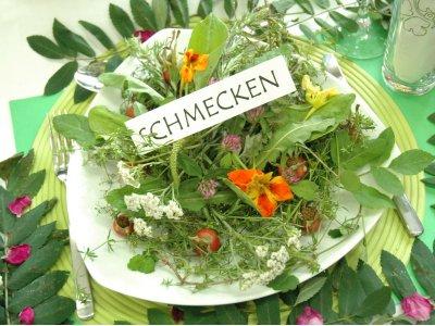 Kräuter und Blumen schmecken