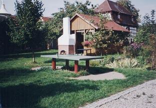 Gartenhaus auf dem Ferienhof Frankenhöhe