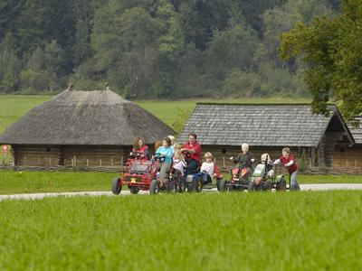 GoKart Rundbahn ohne öffentlichen Verkehr auf dem Moierhof