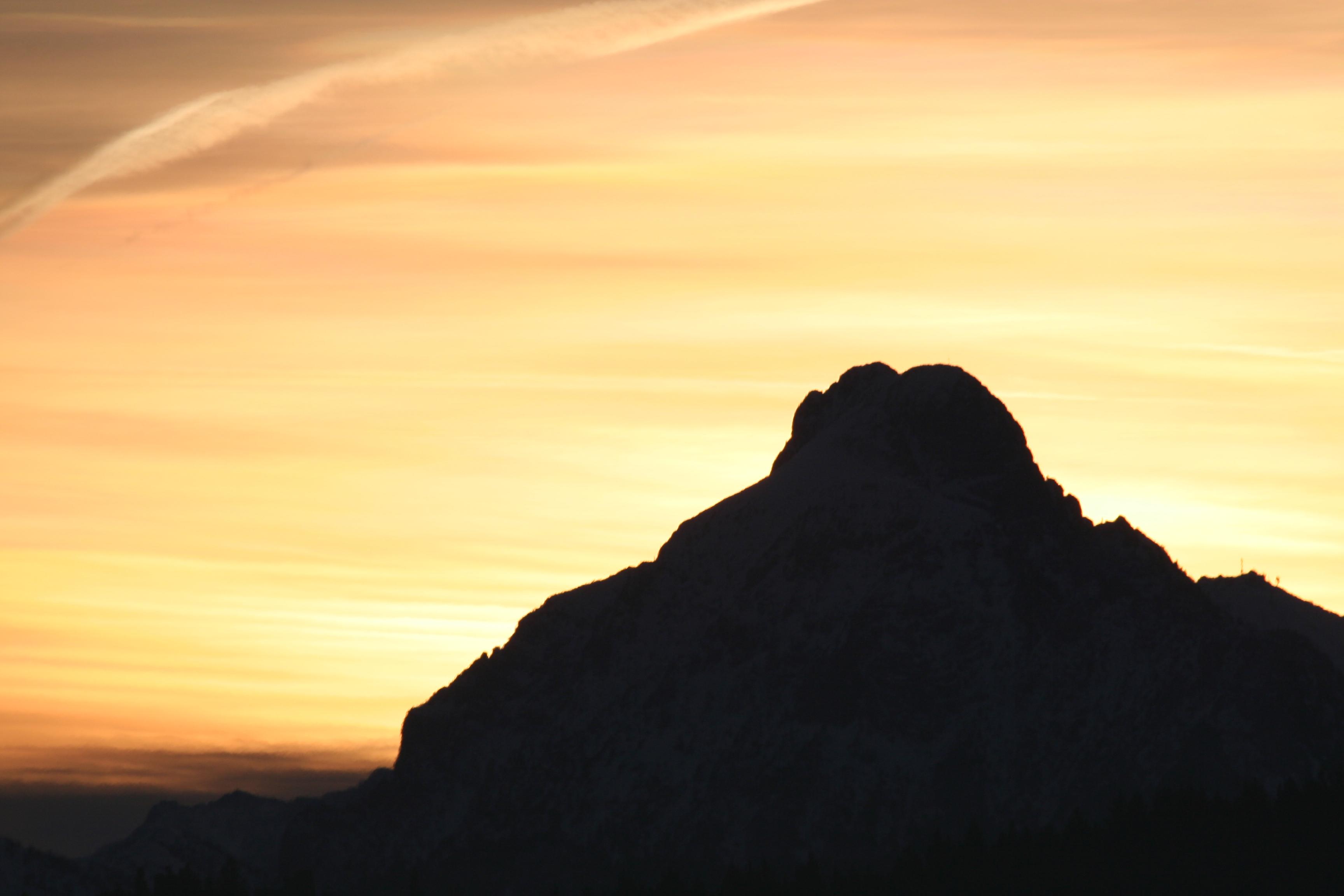 Hof Alpenseeblick Sonnenuntergang im Herbst