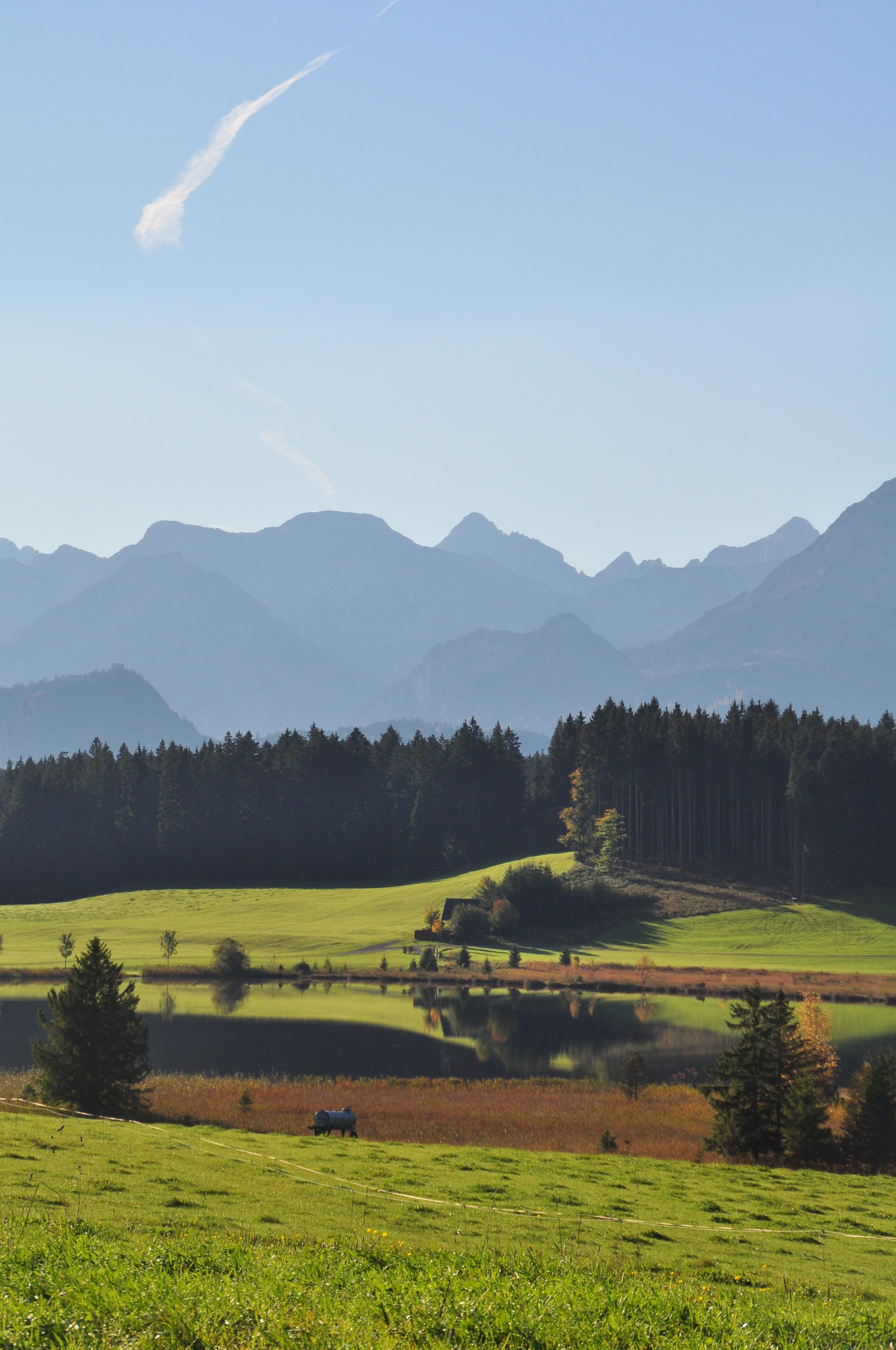 Hof Alpenseeblick weite Bergsicht im Herbst