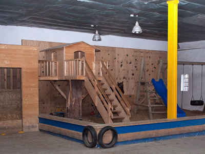 Indoorspielplatz auf der Büdlfarm
