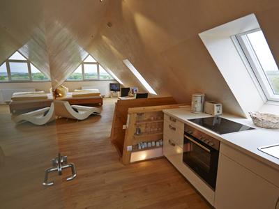 Küche der Wohnung Wolke 7