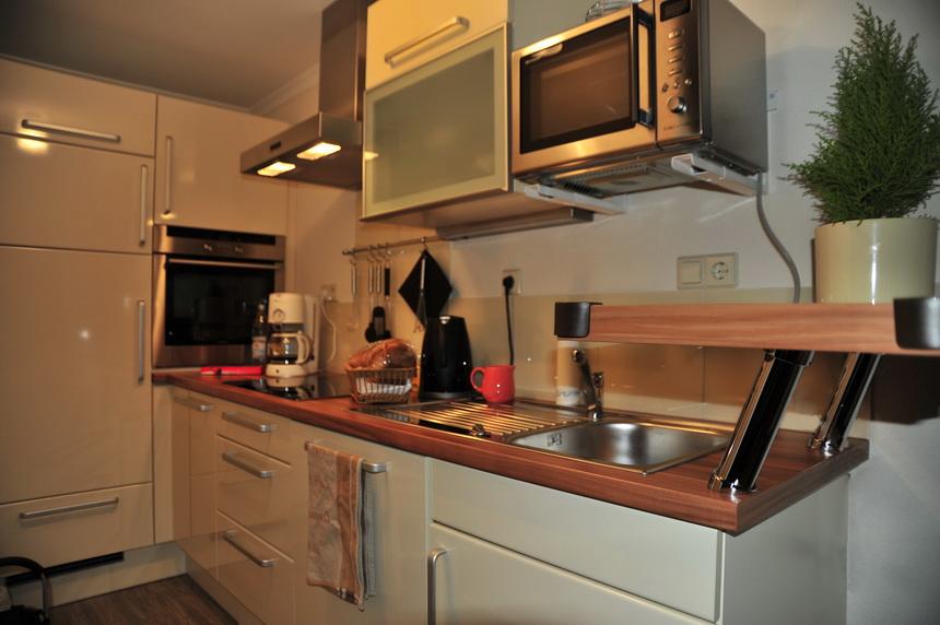 Küche im Ferienhaus Morgensonne auf Alfred´s Ferienbauernhof