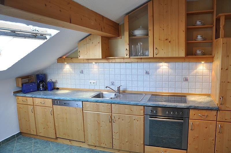 Küche in der FEWO Sternenhimmel auf dem Ferienhof Klöck