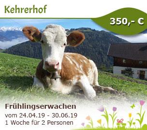 Frühlingserwachen im schönen Südtirol - Kehrerhof