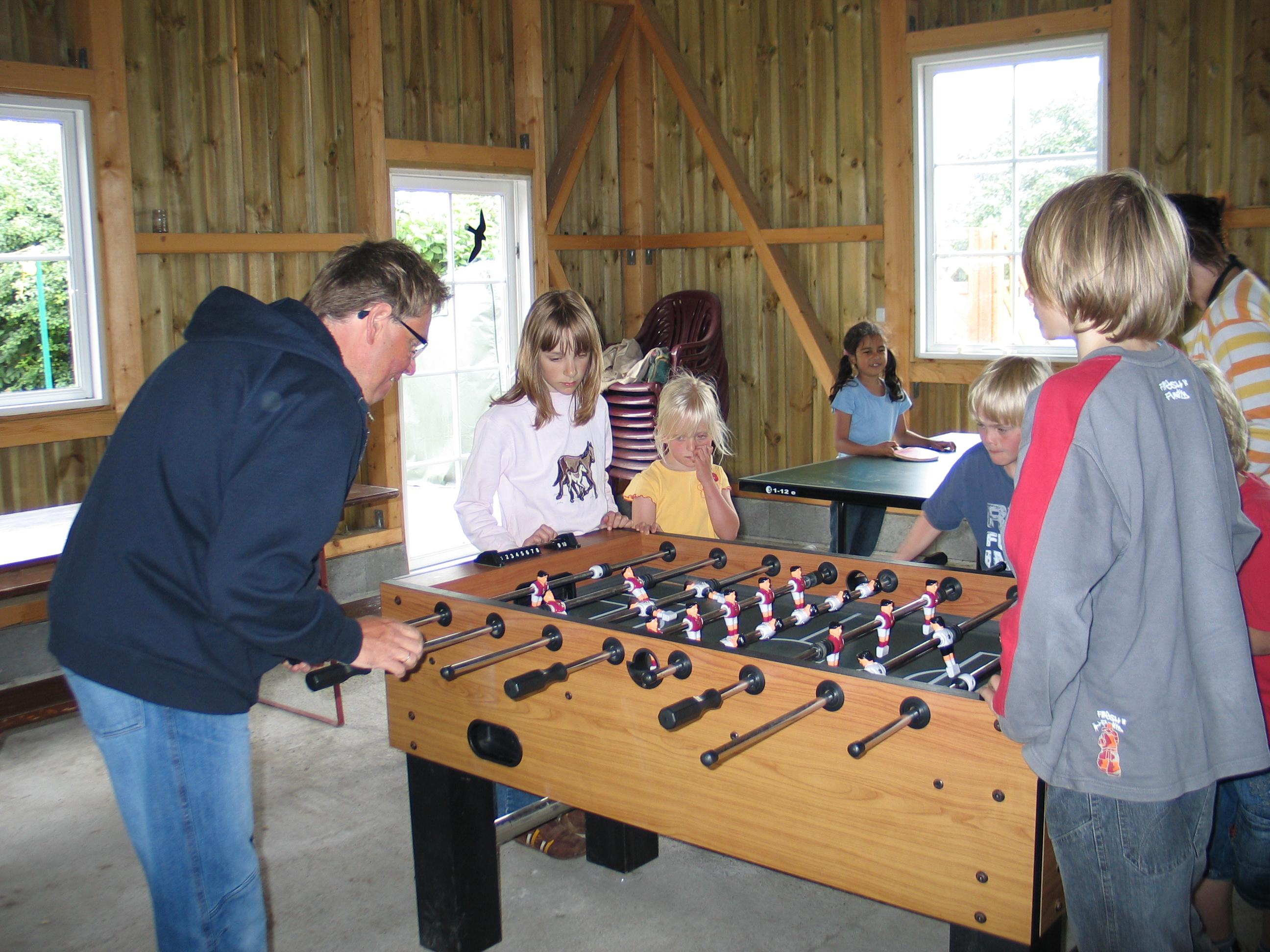 Kicker und Tischtennis auf dem Ferienhof Rickerts