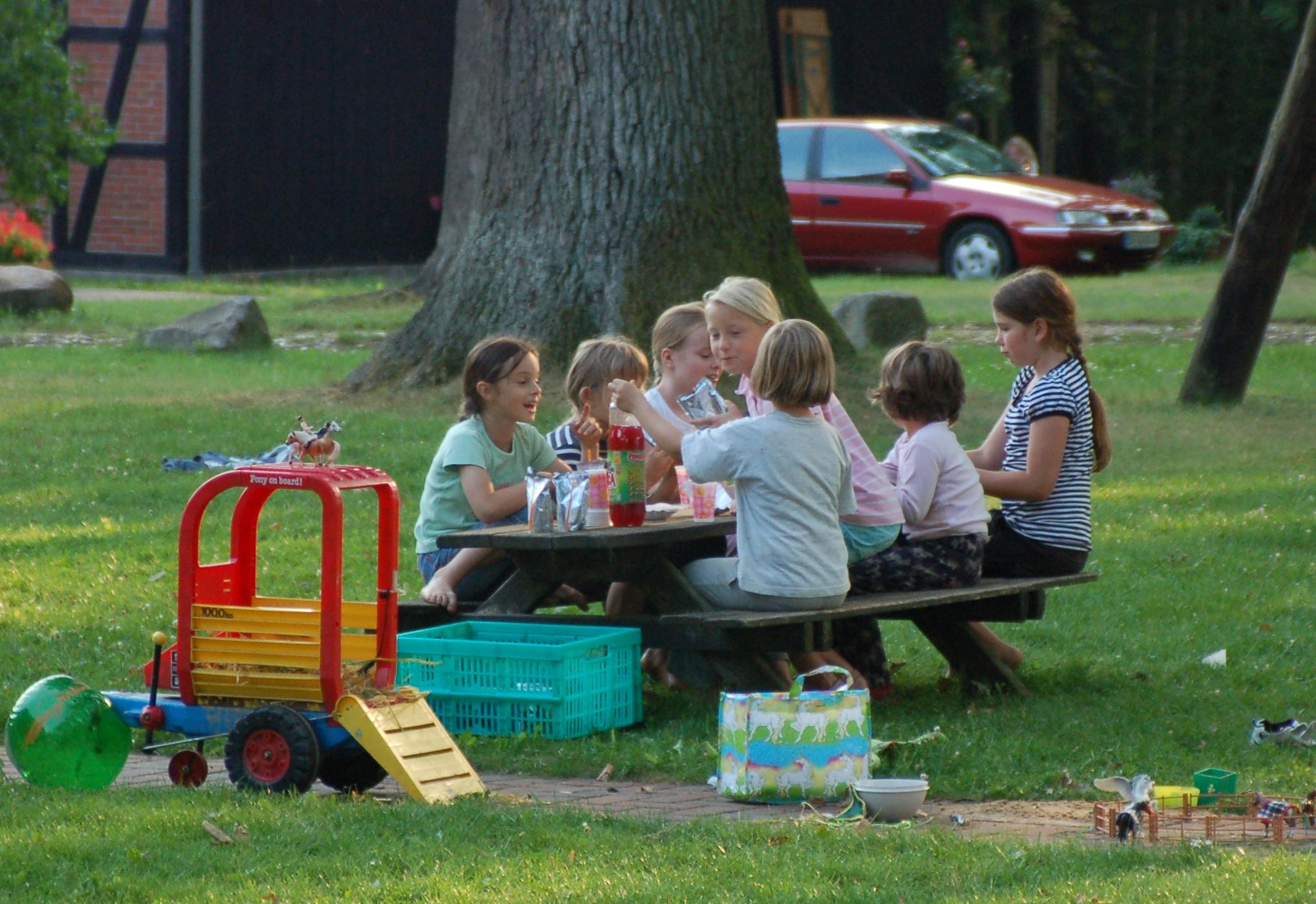 Kinder sind auf dem Beekenhof herzlich willkommen