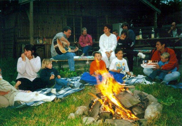 Lagerfeuer auf dem Ferienhof Seelust der Familie  Hinz