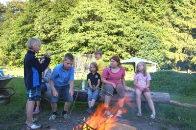 Lagerfeuer auf dem Friedahof