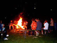 Lagerfeuer auf dem Muhrhof