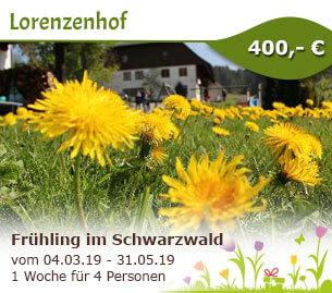Frühling im Herzen vom Schwarzwald - Lorenzenhof