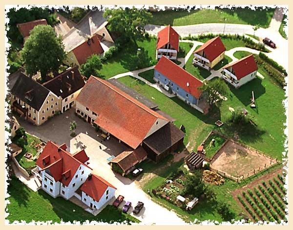 Luftbild vom Feriendorf Nehmeier