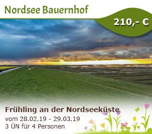 Frühling an der Nordseeküste - Nordsee Bauernhof Urlaub