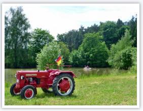 Oldtimer Traktor auf dem Ferienhof Schuler