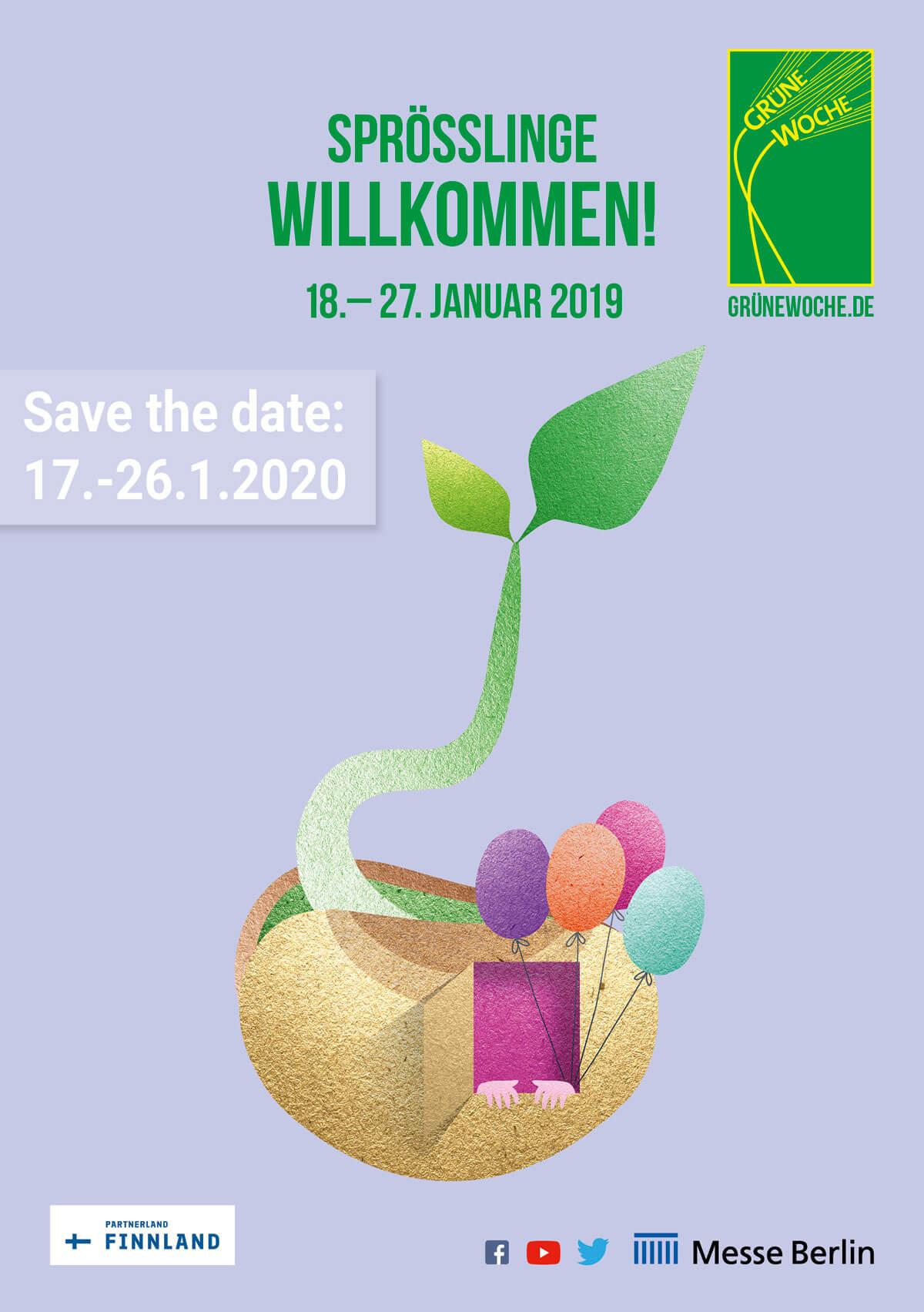 Messeplakat der Internationalen Grünen Woche