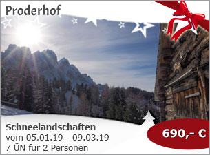 Proderhof - Schneelandschaften