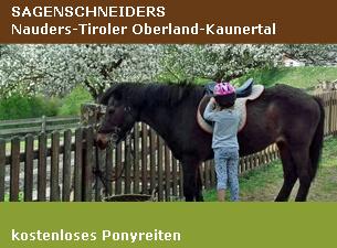 Kostenloses Ponyreiten - Sagenschneiders