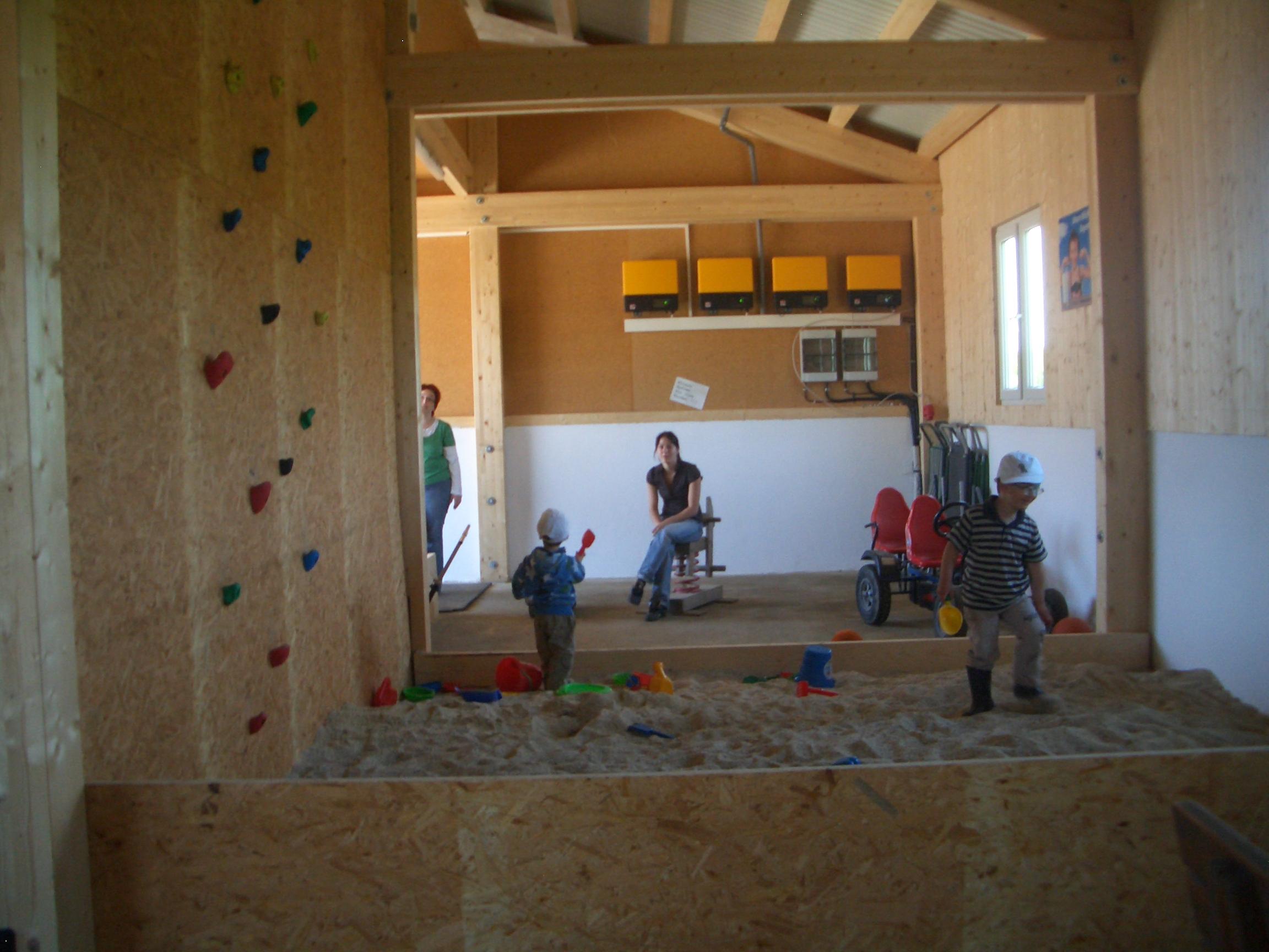Sandkasten in der Spielscheune vom  Ederhof