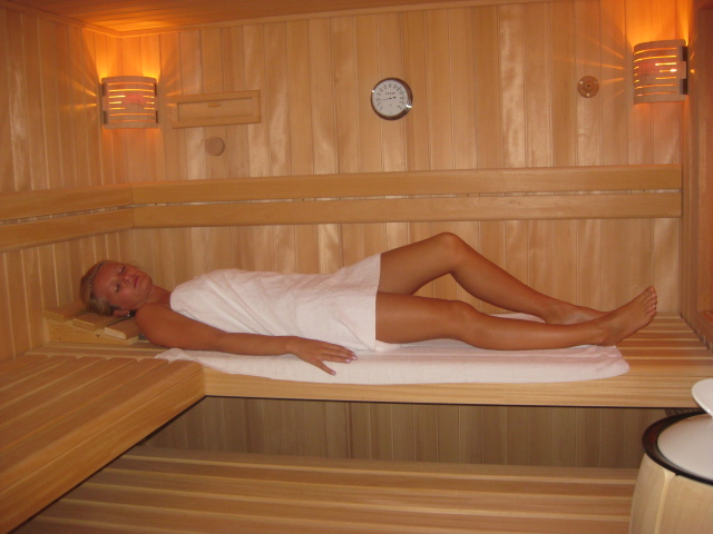 Sauna in der Wellnessoase bei Fuchs und Has